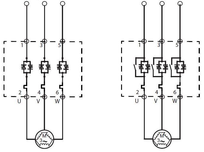 شکل 5 - پیکربندی پشت به پشت SCR (یکسوساز کنترل شده با سیلیکون)