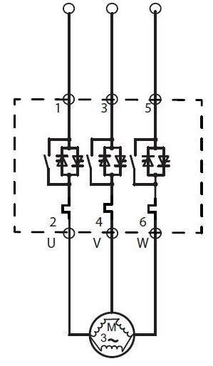 شکل 9 - سافت استارتر با بای پس داخلی