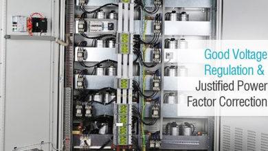 تصویر از بانک خازن یک تنظیم ولتاژ خوب و توجیه اصلاح ضریب توان
