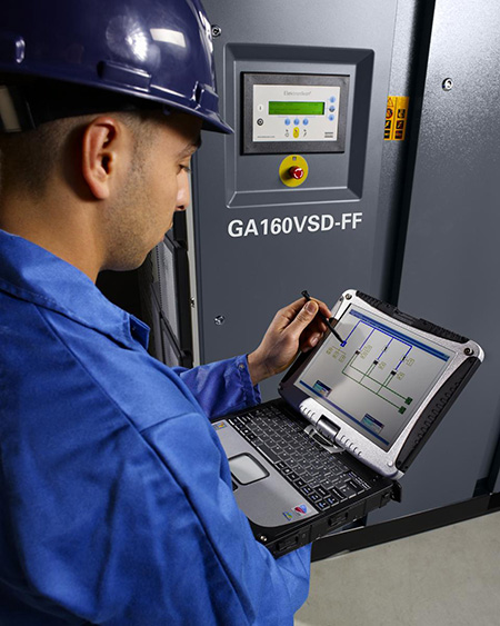 Air-compressor monitoring system