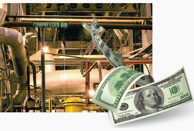 افزایش قطر لوله معمولا مصرف انرژی سالانه کمپرسور را بمیزان 3 درصد کاهش می دهد