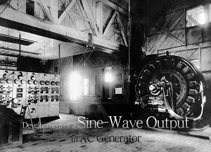 تصویر از تولید و گسترش یک خروجی موج سینوسی در ژنراتور AC