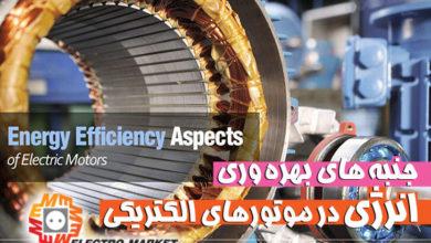 تصویر از جنبه های بهره وری انرژی در موتورهای الکتریکی