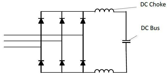 شکل 3- چوک DC بسته شده به باس DC یک درایو