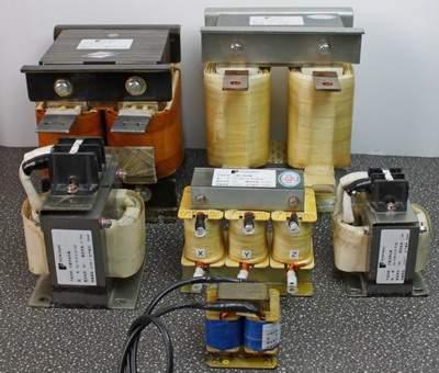 چندین نمونه از چوک ورودی AC و چوک لینک DC