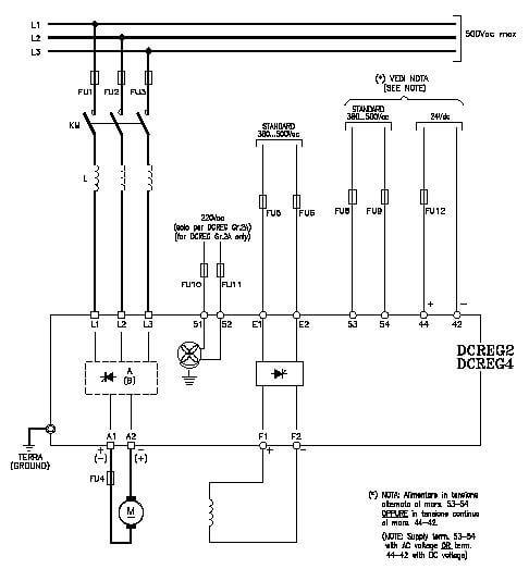 نقشه ورودی و خروجی های قدرت اینورتر DC