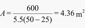 محاسبه ی حداقل مساحت سطح مورد نیاز محفظه
