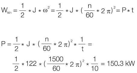 متوسط توان ترمز از رابطه زیر محاسبه می شود