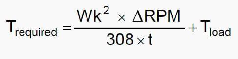 از فرمول زیر برای محاسبه شتاب گشتاور مورد نیاز استفاده کنید