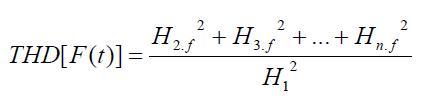 مقدار THD سیگنال با استفاده از رابطه زیر به دست می آید