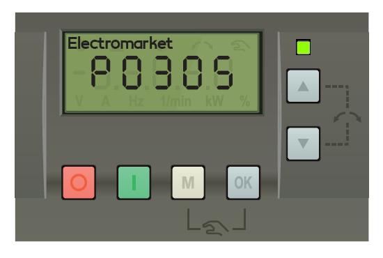 پارامتر p305 اینورتر زیمنس v20